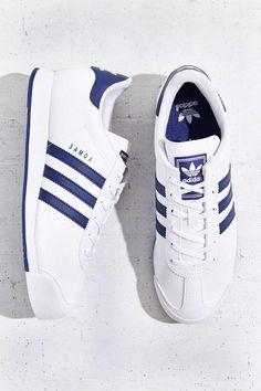 adidas Originals Samoa Blue Stripe Sneaker - Urban Outfitters