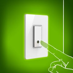 Never get scolded again for not turning off the lights. The Belkin WeMo Light Switch replaces your regular light switch and gives you the power to turn lights on and off from the safety of your smartphone. Turn Light, Inspector Gadget, Verizon Wireless, Cool Tech, Turn Off, Turning, Smartphone, Safety, Easter