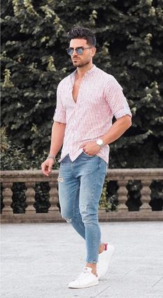 41 trendy summer men fashion ideas for you to try , Mens Fashion Style, Summer Outfits Men, Stylish Mens Outfits, Summer Men, Men's Casual Outfits, Mens Dress Outfits, Mode Outfits, Fashion Outfits, Fashion Trends, Fashion Men