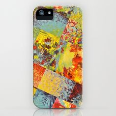 COLORFUL INDECISION 3 - Wild Vivid Rainbow Abstract Acrylic Painting Mixed Pattern Pretty Art Gift  iPhone Case by EbiEmporium - $35.00