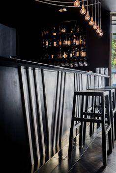 LK_Walsh Bay Kitchen_13 Restaurant Wedding, Restaurant Design, Retail Counter, Bar Counter, Newtown Bar, Interior Designers Sydney, Edison Bulbs, Residential Architect