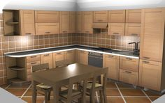 Scavolini cucina angolare ciliegio by #Scavolini #kitchen #kitchens @Sermobil #design