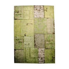 Vloerkleed Patchwork Green - By-Boo