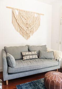 Get the Look: A Cali Beachy Boho Bedroom Boho Bedroom Decor, Bohemian Decor, Living Room Decor, Bedroom Ideas, Home Design, Interior Design, Design Design, Interior Decorating, Decorating Ideas