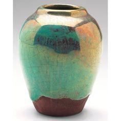 Pewabic vase : Lot 70  #ceramics #pottery