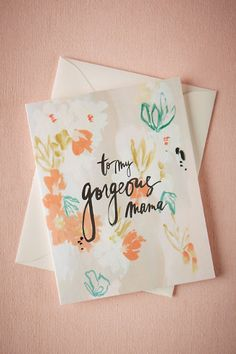 Waterflorals Thank You Cards (8) in Décor Stationery at BHLDN