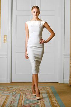Victoria Beckham.  Just make it knee length instead