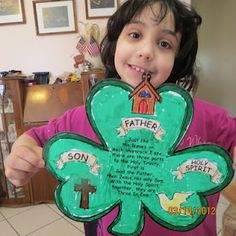St. Patrick Day craft - I told you there are three parts to a shamrock!!!