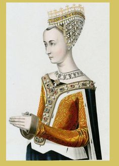 Vintage fashion illustration - medieval queen.