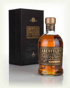 Aberfeldy 21 Year Old, Launched in October of 2005, this 21 year old lies at the core of the Aberfeldy range and is something of a flagship for the brand. This bottling was heralded as the Best Mainland Single Malt at the World Whisky Awards 2007.