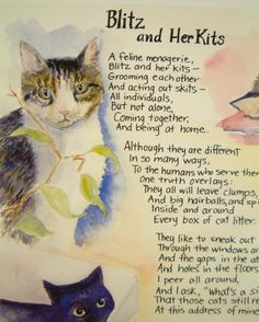 Illustrated Cat Poem for Cat Loversa Quality by Byrdcall on Etsy, $30.00