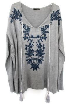 Grande taille –boheme-boho chic-bohemian-pull-pullover –sweater-pompons-plus size #pulloversweater