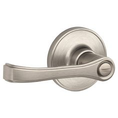Schlage�J Dexter Satin Nickel Universal Turn-Lock Residential Privacy Door Lever