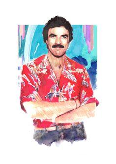 Portrait Icons by Berto Martinez, via Behance