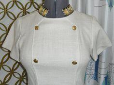 Vintage 1960s Wiggle Dress Mini Dress Sheath Double by linbot1,