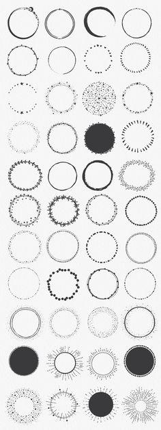 Hand Drawn Circle Shapes by lunalexx on @creativemarket