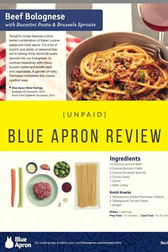 Blue Apron Review - Review of the popular meal service, Blue Apron