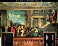 Entry of Mary into the temple - Tiziano Vecellio (Titian) - www.titian-tizianovecellio.org