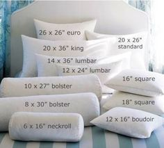Know Your Pillows! - Your Guide To Pillow Shapes and Sizes