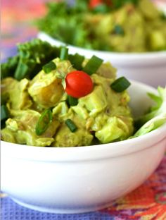 Avocado potato salad.