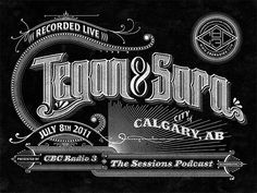 CBC Radio 3 Podcast Lettering by Ben Didier » Design You Trust. Design, Culture & Society.