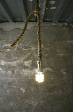 Industrial Rope Hanging Light