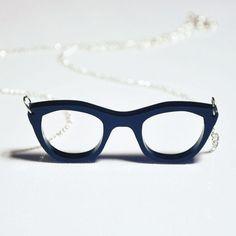 Retro Glasses Necklace $22