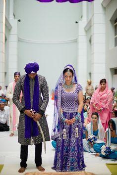 Mariage en bleu, Punjabi bride and groom