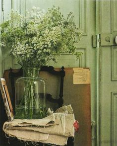 DIY:: Painting Your Furniture To a Foolproof Cottage  Color !! Love This Green !!