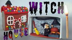 The witch's house in a matchbox - Polymer clay tutorial - Halloween crafts