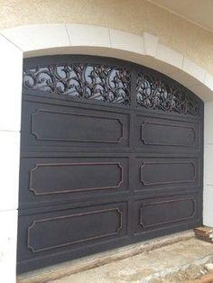 Wrought Iron Doors - mediterranean - garage doors - other metro - by Precision Door Service of Hampton Roads. I have a thing for garage doors. Modern Garage Doors, Wood Garage Doors, Modern Door, Door Gate Design, Garage Door Design, Garage Door Colors, Garage Door Makeover, Wrought Iron Doors, Hampton Roads