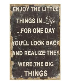 Take a look at this 'Little Things' Wall Art by Old-Fashioned Charm: Décor Accents on #zulily today!