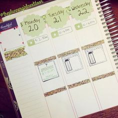 Next week's spread is going to be the doors!  Loving this wood and leafy washi I bought at AC Moore.
