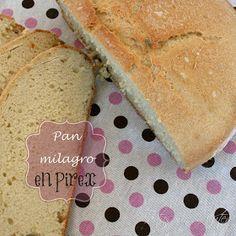 Tartas sin Gluten .....365 dias sin gluten: Pan Milagro ... en Pírex