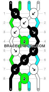 Twist Pattern #612 @ Braceletbook.com