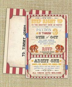 invitación fiesta circo 6