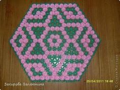 Плетение - Салфетки плетеные на рамке