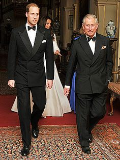 The Duke of Cambridge pulled a quick change, too: William set aside his scarlet colonel uniform in favor of a dapper black tuxedo. Prince Charles, his wife Camilla Parker Bowles and Kate's sister Pippa all stepped out in colorful new outfits, too. ~ April 29, 2011.