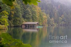 AUTUMN AT ALPSEE LAKE: Available for purchase as a fine art print, canvas or greeting card. | Bavaria, Germany