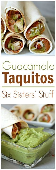Guacamole Taquitos on SixSistersStuff.com
