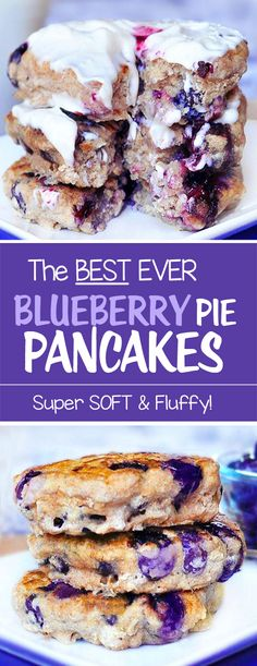 These soft blueberry pancakes are perfect for Sunday mornings, and they are vegan too!