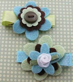 A number of cute felt flower tutorials