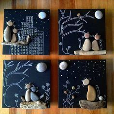 Cool DIY Idea: Painting out of River Pebbles – Best Handi Crafts Pebble Painting, Pebble Art, Stone Painting, Diy Painting, Painting Walls, Painting Canvas, Rock Painting, Diy And Crafts, Crafts For Kids