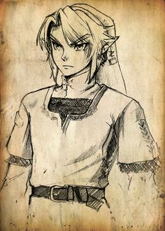Link, The Legend of Zelda......So want to try and draw that