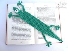 Amigurumi Gecko Lesezeichen Häkelanleitung