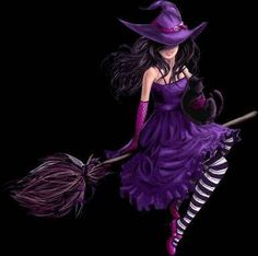 Harley Quinn Halloween, Purple Halloween, Halloween Post, Beautiful Witch, Beautiful Dark Art, Witch Painting, Witch Art, Witch Pictures, Tatoo