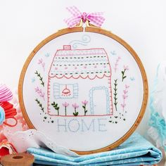 Home Sweet Home Embroidery Kit  £15.5 http://www.thehomemakery.co.uk/cross-stitch-embroidery-kits/tamar-nahir-yanai-embroidery-kits/home-sweet-home-embroidery-kit