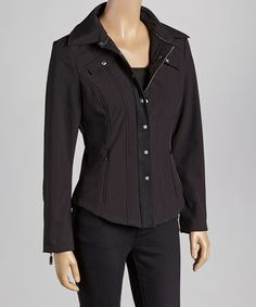 Take a look at this Black Studded Jacket by Montanaco on #zulily today! $59 !!