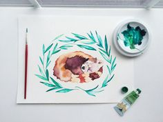 A print of this friggin' beautiful watercolor painting. | 21 Things You Need If You Love Red Pandas