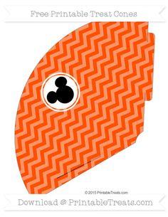 Free Orange Chevron  Mickey Mouse Treat Cone